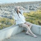Queen Shop【01096984】氣質繡花鏤空澎袖造型上衣*現+預*