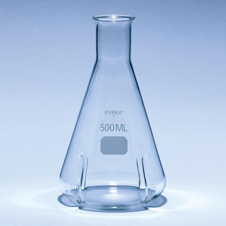 《PYREX》振盪三角瓶 Flask, Baffled Shake