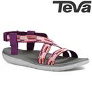 TEVA 超輕量舒適寬版織帶健走涼鞋 TERRA-FLOAT - 紫紅(女版)