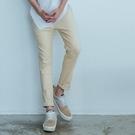 【OBIYUAN】九分褲 休閒褲 素面 厚磅 修身 超彈力 工作褲 長褲 共2色【X6915】