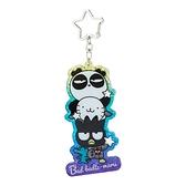 小禮堂 酷企鵝 造型壓克力鑰匙圈 鐳射光鑰匙圈 壓克力吊飾 掛飾 (紫 生日宇宙) 4550337-45323