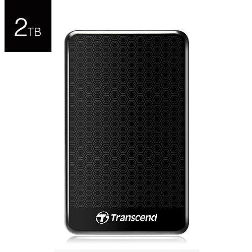 Transcend 創見 StoreJet 25A3 2T B TS2TSJ25A3K 黑色 USB3.0 2.5吋 行動 外接硬碟