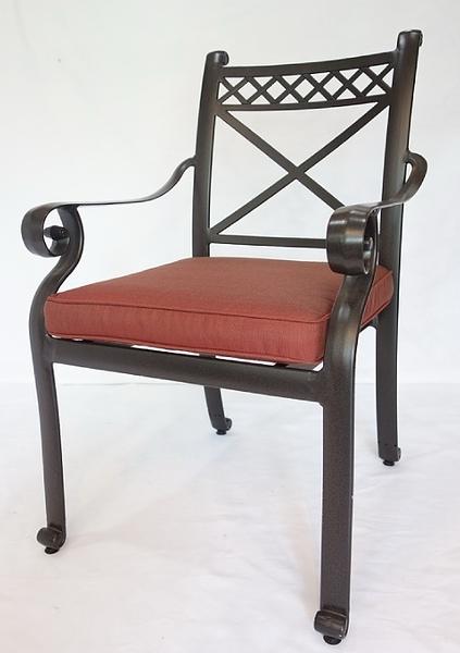 【南洋風休閒傢俱】戶外休閒桌椅系列- 鋁合金扶手餐椅  戶外休閒餐椅  (#20309)