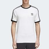 adidas T恤 3 Stripes Tee 白 黑 三條線 三葉草 男款 基本款 短袖上衣 【ACS】 CW1203