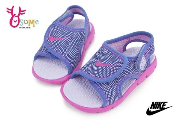 NIKE小童涼鞋 輕量 魔鬼氈 運動型涼鞋N7170#紫色◆OSOME奧森鞋業 pic