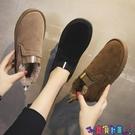 雪地靴 短筒雪地靴女2021秋冬季新款百搭網紅平底保暖加絨加厚短靴棉鞋子寶貝計畫 上新