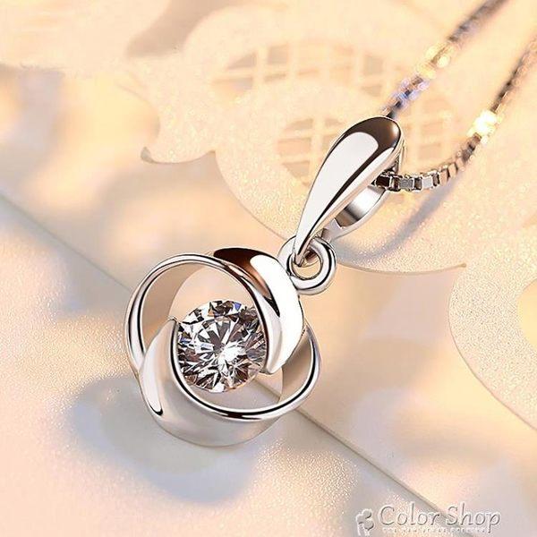 PT950鉑金項鍊 女友禮物18K白金項鍊 百搭珠寶首飾 鑽石吊墜女款color shop