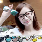 Galaxy.反光偏光磁吸片XTR90塑膠鈦橢圓方框配鏡框眼鏡【p8018A】*911 SHOP*