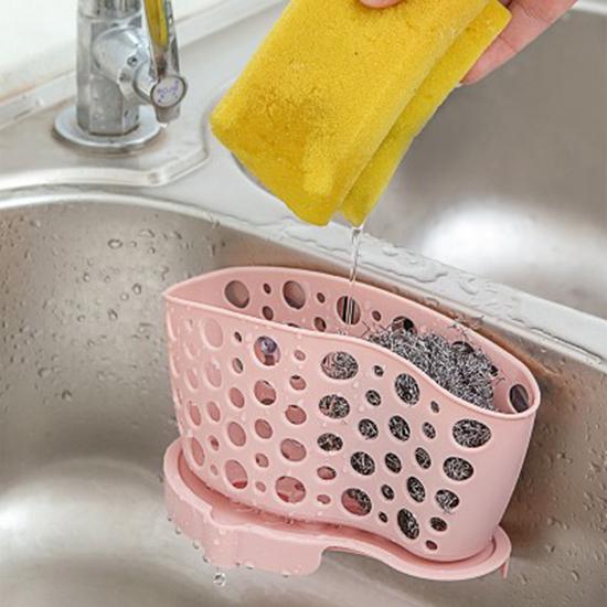 可分體式瀝水收納籃 瀝水掛籃 餐具 置物籃 雜物 浴室 菜瓜布 鋼刷 碗筷【N404】慢思行
