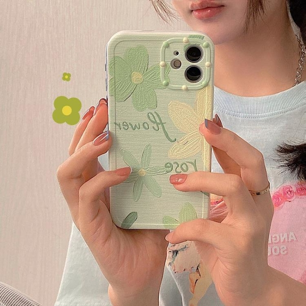 iPhone手機殼 韓風小清新花朵iPhone12pro/max蘋果11手機殼【快速出貨】