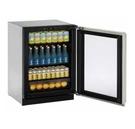 【得意家電】美國 U-line 3024RGL 玻璃門冰箱(歐洲無把手不銹鋼門框)  ※ 熱線07-7428010
