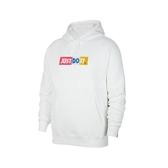 Nike 長袖T恤 NSW JDI FLC Hoodie 白 彩色 男款 帽T 運動休閒 【PUMP306】 CJ4776-100