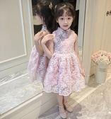 洋裝 童裝女童洋裝韓版洋氣兒童公主裙女孩旗袍裙子女夏 綠光森林