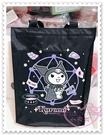 ♥小花花日本精品♥Hello Kitty 酷洛米Kuromi方形提袋外出購物袋便當袋可調長度41002506