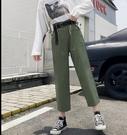 休閒褲9分褲M-2XL韓國工裝褲女法式寬鬆休閒顯瘦國潮韓版R028.3081號公館