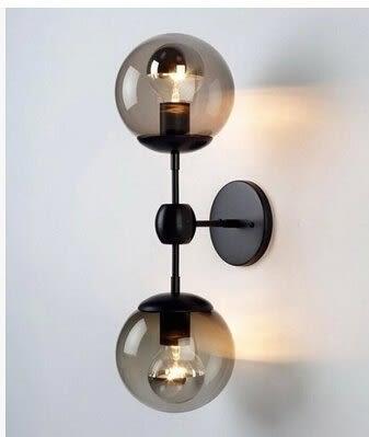 設計師美術精品館北歐宜家美式複古客廳MODO書房客廳床頭壁燈魔豆玻璃壁燈