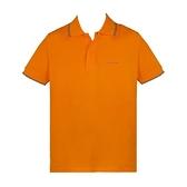 【南紡購物中心】ARMANI JEANS 經典刺繡LOGO滾邊短袖POLO衫-橘