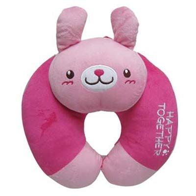 Cute動物頸靠枕(桃紅兔)