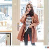 《EA2336》立領收腰設計高含棉純色風衣外套 OrangeBear