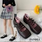 PAPORA卡哇依方頭娃娃包鞋牛津鞋KK4228黑/棕