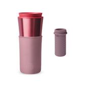 【HYDY】兩用隨行保溫杯 乾燥玫瑰-玫瑰金+ 泡茶器