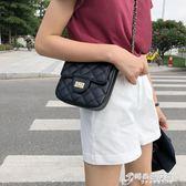 包包女新款潮韓版百搭斜背上新迷你小方鏈條包菱格小背包單肩 時尚芭莎