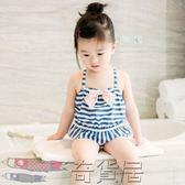 兒童泳衣連體女孩中小童寶寶泳裝