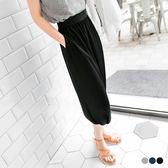 OrangeBear《BA1644》輕盈美型~黑色雪紡彈性腰圍造型飛鼠褲