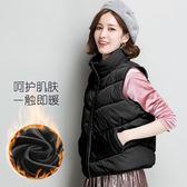背心外套 休閒馬甲羽絨棉保暖學生馬夾棉服外套女棉衣面包服背心  都市時尚