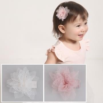 UNICO 韓版 兒童活潑款網紗花朵髮夾