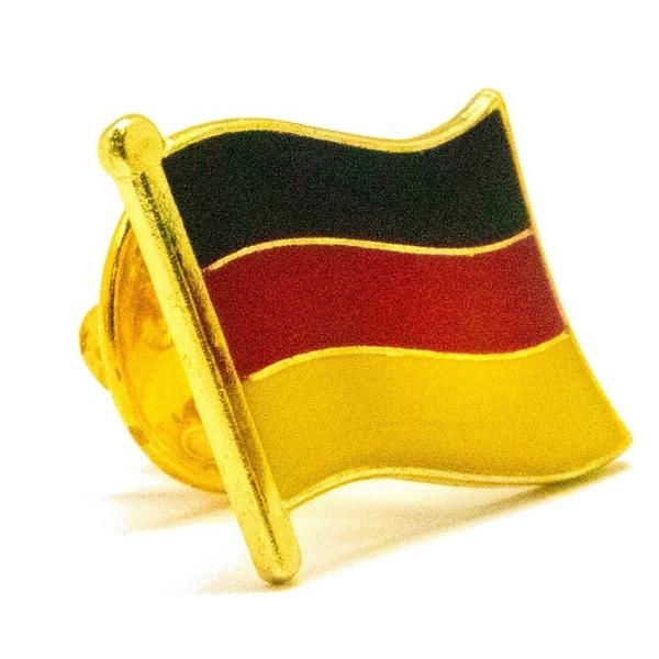 DIY個性布標章識別章補丁 三件組白日紐倫堡地標+德意志國旗刺繡+金屬別針 徽章刺繡