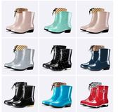 618好康鉅惠雨鞋女短筒成人雨靴保暖水靴防水鞋女士