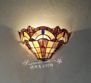 設計師美術精品館天然貝殼環保燈手工制作歐式田園風格過道玄關燈12寸月牙壁燈