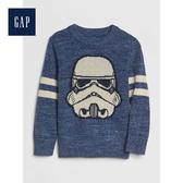 Gap男幼童StarWars星際大戰系列圓領長袖針織衫522514-淡雅天空藍