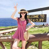 游泳衣女顯瘦遮肚性感韓國小胸聚攏溫泉大碼裙式連體平角泳衣學生 全館免運