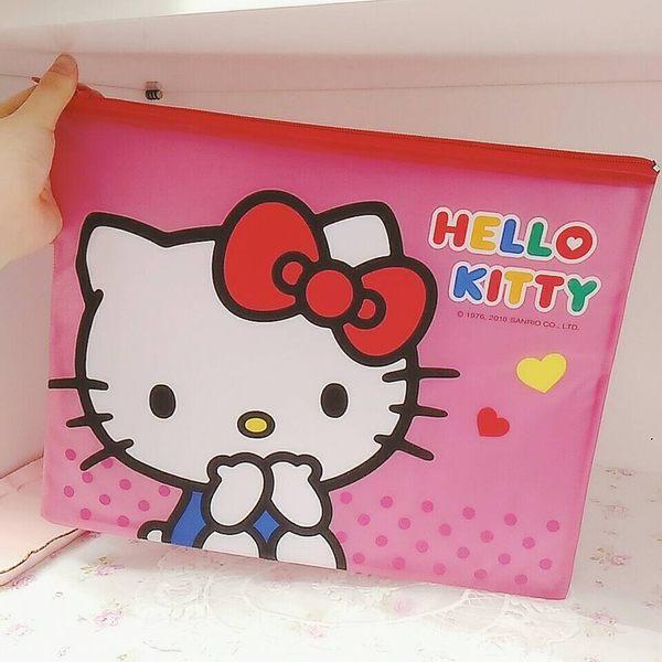 kitty資料袋收納袋檔案袋文件袋網袋963596通販屋