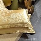 枕套一對裝2只 枕頭套貢緞提花單件學生宿舍單雙人48*74  一米陽光