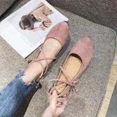 芭蕾鞋 瓢鞋女春新款淺口單鞋女平底百搭圓頭綁帶芭蕾舞鞋韓版女鞋子 瑪麗蘇