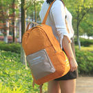 《J 精選》大容量韓版復古多功能可褶疊後背包