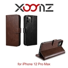 【愛瘋潮】 XOOMZ 格蘭錢包 iPhone 12 Pro Max 6.7 磁扣側掀 手工皮套 手機殼 側掀皮套 可插卡 可站立