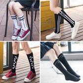 情趣內睡衣 中筒襪小腿襪女日系原宿運動堆堆襪百搭條紋襪子個性潮