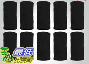 [106玉山最低比價網] 1組10隻 運動休閒用品 彈性透氣 護指墊 護指套 黑色 (781760_P120)