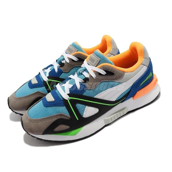 Puma 休閒鞋 Mirage Mox Vision 灰 黑 藍 橘 復古 撞色 男鞋 【ACS】 368609-01