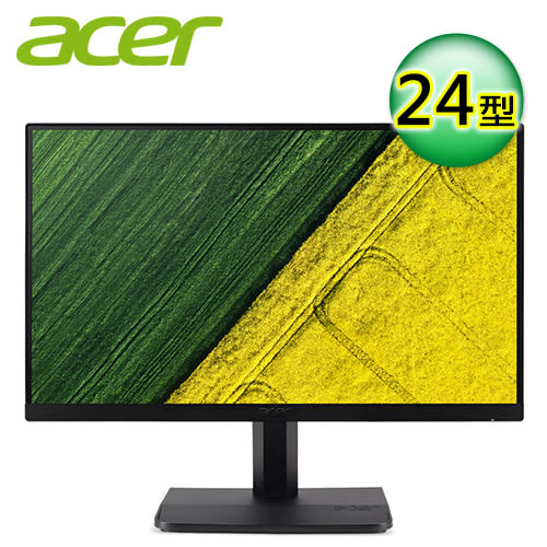 【Acer 宏碁】 ET241Y 24型 IPS 窄邊框電腦螢幕 【贈收納購物袋】