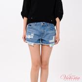 Victoria 中腰流蘇織帶裝飾短褲-女-V55179