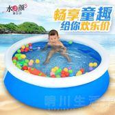 泡澡桶 家庭游泳池嬰兒童充氣游泳池 海洋球池 戲水池 碟形游泳池 晴川生活館 NMS