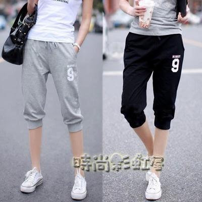 純棉大碼寬鬆運動短褲「時尚彩虹屋」