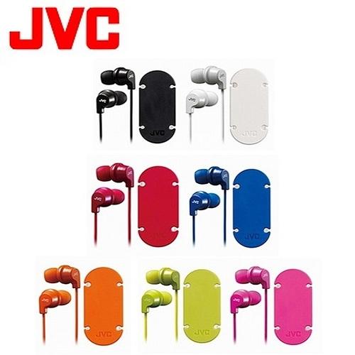 JVC 吸盤式捲線器耳道式耳麥 HA-FR21-B 黑色