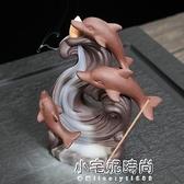 紫砂香爐家用塔香沉香熏香檀室內仕女香薰爐創意個性陶瓷擺件 【全館免運】