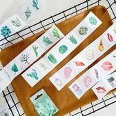 【BlueCat】溫暖世界系列連排盒裝貼紙 手帳貼紙 (40入)
